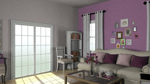 purple - Classic - Living room - by LarisaS