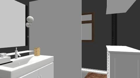 salle de bain/ plan 1 - Retro - Bathroom - by Yellow1806