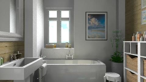 White and wood - Modern - Bathroom - by Tuija