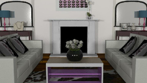 The Purple - Living room - by FranklyDear