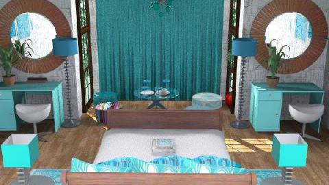 bluey - Retro - Bedroom - by kyechaos