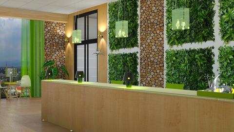 green wall - Office - by snjeskasmjeska