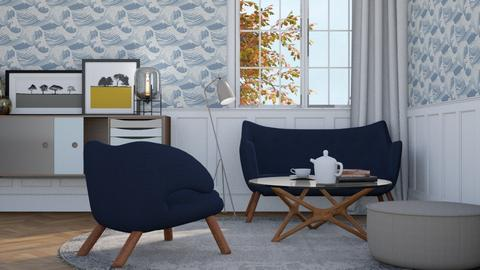Scandinavian blue - Vintage - by HenkRetro1960