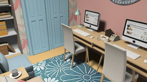 office for 2 - Classic - Office - by teen bedroom