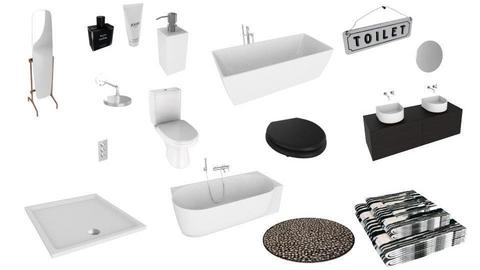 black and white bathroom - by abuch71