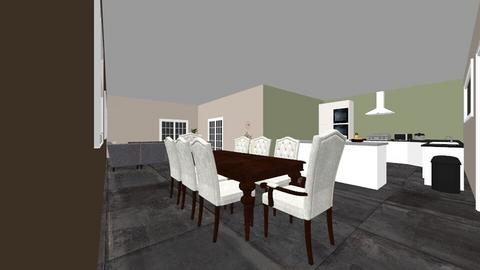 living room and kichen - Kitchen - by Jessicas121