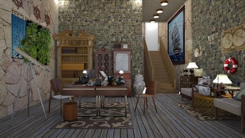 nautical office retro - by nat mi