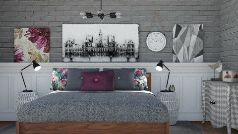 Painted - Vintage - Bedroom - by Liu Kovac
