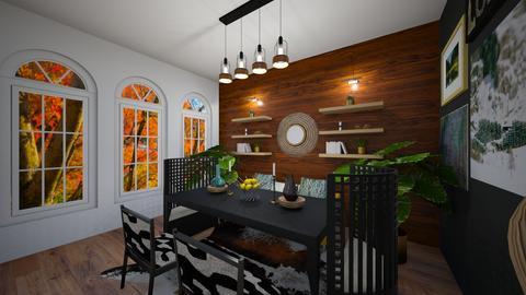 Black Dining - Dining room - by hmgrl