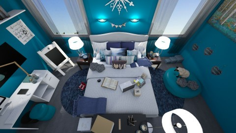 Teen room - Bedroom - by KrisTina94