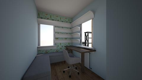 Office with Bench - Office - by cnovinski
