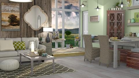 Classic Cabin - Classic - Dining room - by Jessica Fox