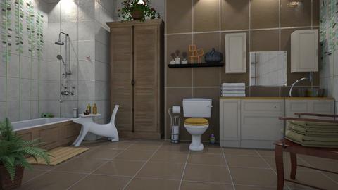 Bohemian bathroom - by ilcsi1860