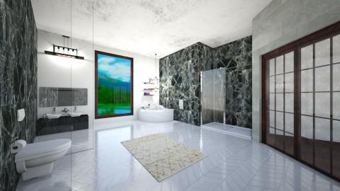 Marbe bath - Bathroom - by Ava Reall
