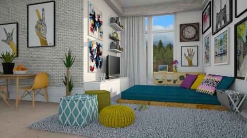 Pequeno Apartamento  - Living room - by Sanare Sousa