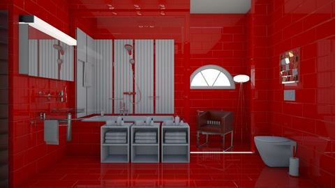 red bat - Bathroom - by nat mi