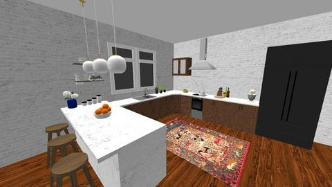 mid century kitchen  - by Alice Connor