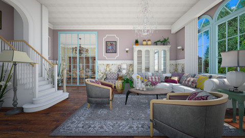 Colonial - Vintage - Living room - by janip