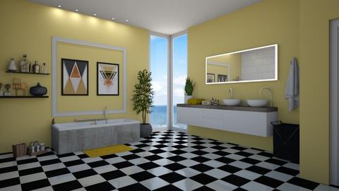 Yellow bathroom - Bathroom - by LiveItUp