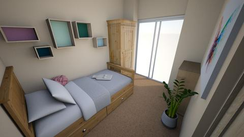 Tiny Room Wood Theme - Minimal - Bedroom - by hz00060
