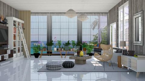 Summer Beach House - Living room - by ayudewi382
