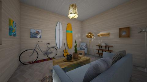 Surfer Beach House - Living room - by yoshiallen8