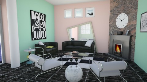 Posh 80s Living Room - Glamour - Living room - by corbu_cat
