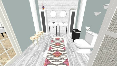 blue Iky 7 - Country - Bathroom - by decordiva1