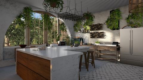 Jungle_Kitchen - Kitchen - by anekyen
