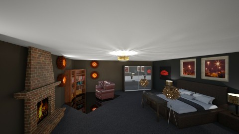 Brown - Bedroom - by Sara Balerina