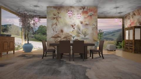 Floral wallpaper - Dining room - by BortikZemec