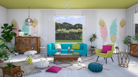Lime - Living room - by ArtHousedeco