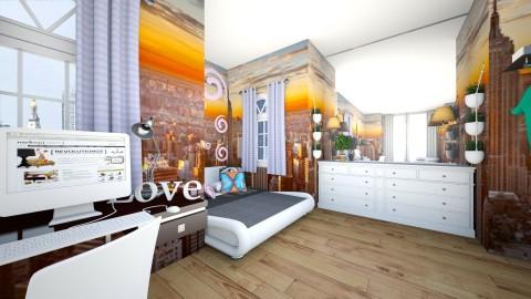 Teen bedroom 2 - by Mya9
