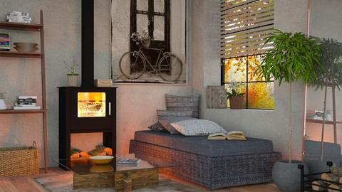 Fire - Eclectic - Living room - by Sally Simpson