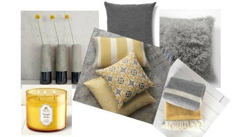 gray yellow decor - by porter edun