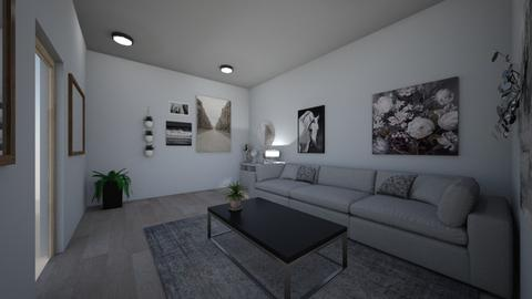 Grayish - Retro - Living room - by SpicyMcPie
