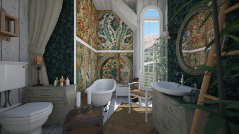 bohemian - Bathroom - by Senia N