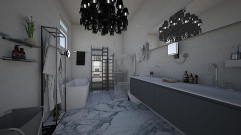 modern fancy small bath - Modern - Bathroom - by jade1111