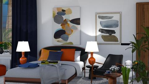 Orange Blue Bedroom - by ritsa