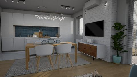 Lux Apt _kitchen_dine - Modern - by meggle