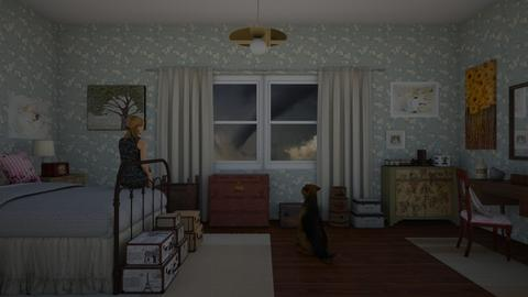 Not In Kansas Anymore - Vintage - Bedroom - by Jade Autumn