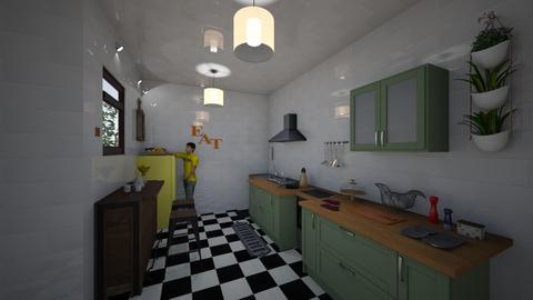 green kitchen - Modern - Kitchen - by imasprananingrum
