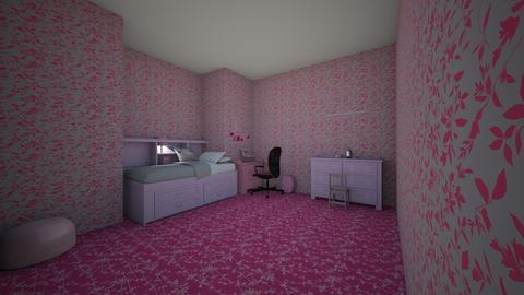 pink - Bedroom - by LeiRech