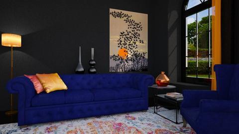 orange blue  - by EDW