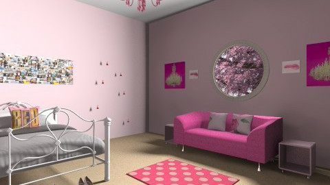 pink room - Feminine - Bedroom - by bethany nash