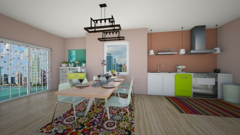 colourful dining room - Modern - Dining room - by eleonoraxruc