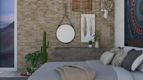 Bohemian Bedroom - Bedroom - by cutebaxter123