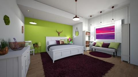 Purple and Green Feels - Bedroom - by Berry258