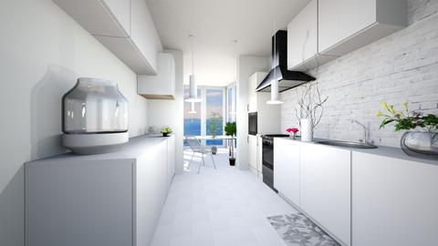 White Hill - Modern - Kitchen - by whatbuttwo