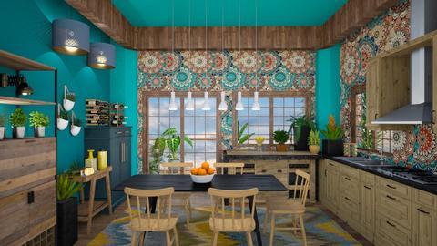 boho kitchen - Kitchen - by mari mar